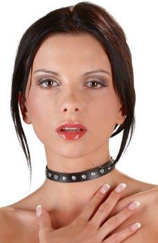 Tenký ozdobný obojek se štrasovými kamínky – Vzrušující intimní šperky, ozdoby a bižuterie