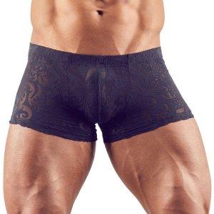 Průsvitné pánské boxerky s natištěným abstraktním motivem – Pánské boxerky, jocksy, slipy a tanga