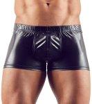 Lesklé boxerky s odnímatelným kovovým erekčním kroužkem