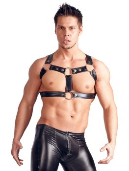 Hrudní postroj Chest Harness – BDSM postroje, oblečení pro dominu, latex, kůže