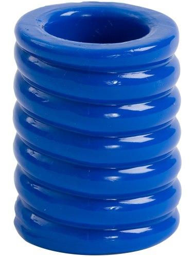 Nevibrační erekční kroužky: Erekční kroužek TitanMen Cock Cage Blue