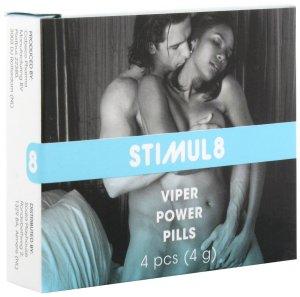 Stimul8 - tablety na posílení mužského libida Viper Power Pills – Přípravky na zvýšení mužského libida