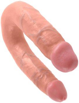 Dvojité realistické dildo King Cock Medium Double Trouble – Dvojitá a oboustranná dilda