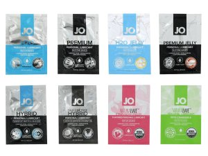 Degustační balíček lubrikačních gelů System JO – Lubrikační gely na vodní bázi