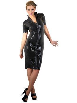 Latexové šaty s dlouhým dvoucestným zipem – Latexové prádlo a oblečení pro ženy