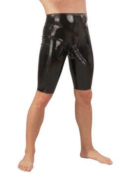 Latexové šortky s kapsou na penis a varlata – Latexové oblečení pro muže