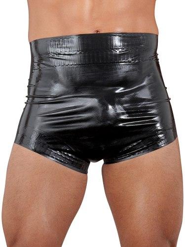 Latexové oblečení pro muže: Latexové plenkové kalhotky, unisex (černé)