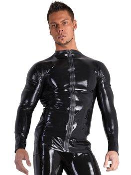 Latexové triko s dlouhými rukávy a zipem – Latexové oblečení pro muže