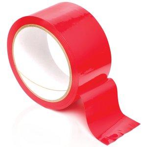 Páska na bondage Pleasure Tape, červená – Lana a pásky na bondage (svazování)