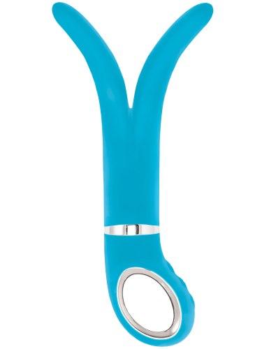 Dvojité a trojité vibrátory: Luxusní dvojitý vibrátor Gvibe 2 Blue Lagoon