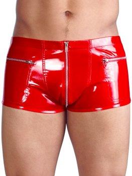 Červené lakované boxerky – Pánské lakované prádlo a oblečení (vinyl)