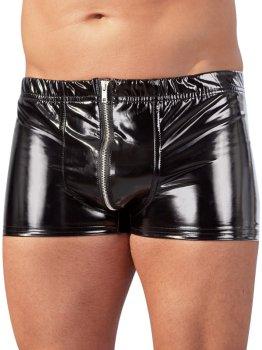 Pánské lakované prádlo a oblečení (vinyl): Lakované boxerky se zipem