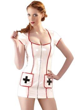 Lakovaný kostým Zdravotní sestra – Dámské lakované prádlo, oblečení a obuv (vinyl)