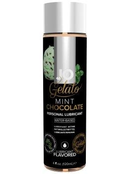 Lubrikační gel System JO Gelato Čokoláda s mátou – Lubrikační gely s příchutí (na orální sex)