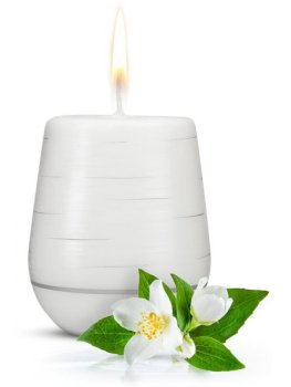 Afrodiziakální vonná svíčka Jasmine Romance – Difuzéry, bytové parfémy a vůně s afrodiziaky