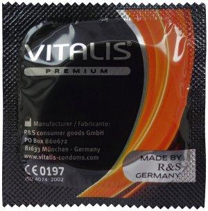 Kondom Vitalis Orange - pomeranč – Kondomy s příchutí