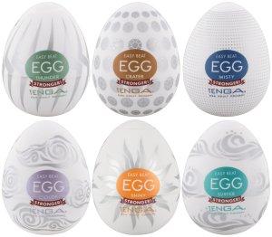 Výhodné balení masturbátorů TENGA Egg Stronger, 6 ks – Masturbátory TENGA