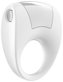 Stylový vibrační erekční kroužek OVO B8, bílý – Vibrační erekční kroužky