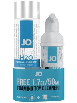 Lubrikační gel System JO H2O + čisticí pěna na erotické pomůcky ZDARMA – Lubrikační gely na vodní bázi