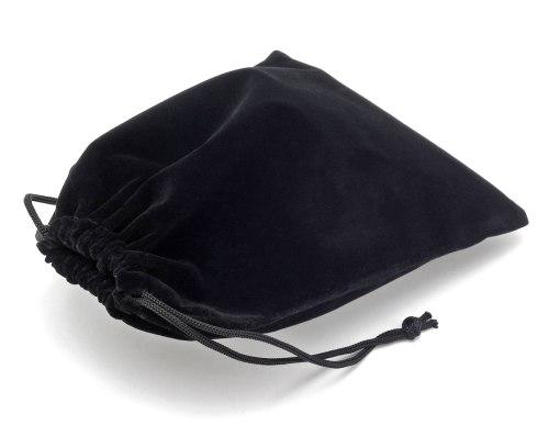 Dárkový sametový pytlík - černý, 8x17 cm