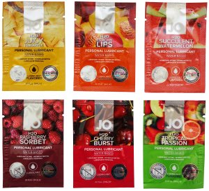 Degustační balíček lubrikačních gelů System JO - mix ovocných příchutí – Lubrikační gely na vodní bázi