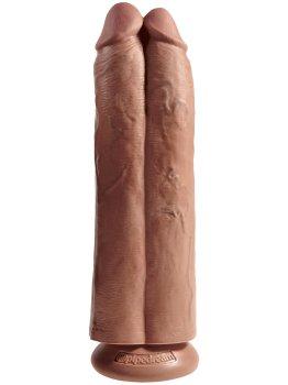 "Realistické dildo King Cock Two Cocks One Hole 11"" – Realistická dilda"