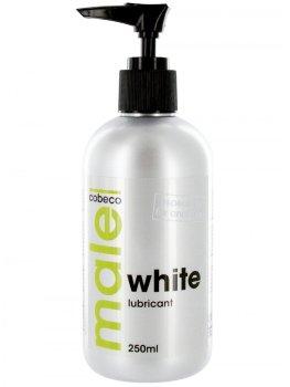Bílý lubrikační gel MALE WHITE - extra hustý – Umělé sperma - náhražka ejakulátu