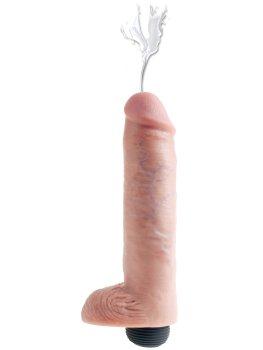 """Stříkající realistické dildo s varlaty King Cock 10"""" – Stříkající dilda a vibrátory"""