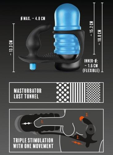 Masturbátor s vibračním stimulátorem prostaty The Surge