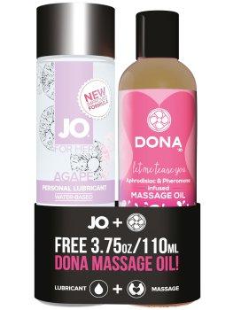 Lubrikační gel System JO Agapé + masážní olej DONA ZDARMA – Lubrikační gely na vodní bázi