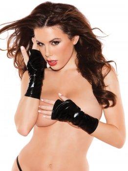 Lesklé rukavice bez prstů Naughty Kitten – Sexy dámské rukavice a návleky na ruce