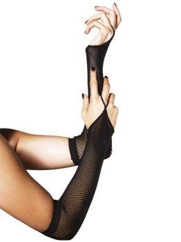 Dlouhé síťované návleky na ruce – Erotické rukavice a návleky na ruce