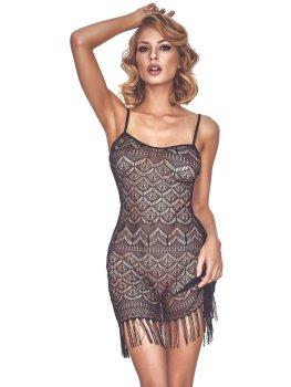Nádherné vintage krajkové šaty s třásněmi Physis – Sexy šaty a minišaty