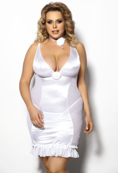 Luxusní negližé + tanga Tanise PLUS SIZE – Erotické prádlo ve větších velikostech