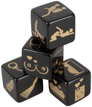 Erotické hrací kostky, 4 ks – Erotické společenské hry