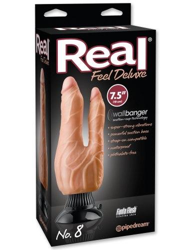Dvojitý realistický vibrátor Real Feel Deluxe No. 8 (23,5 cm)