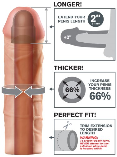 Návlek na penis MEGA, prodlouží o 5,1 cm