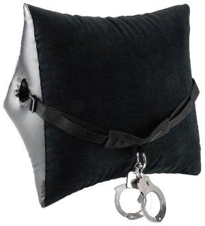 Nafukovací polštář s popruhem a pouty Deluxe Position Master – Erotický nábytek a bytové doplňky