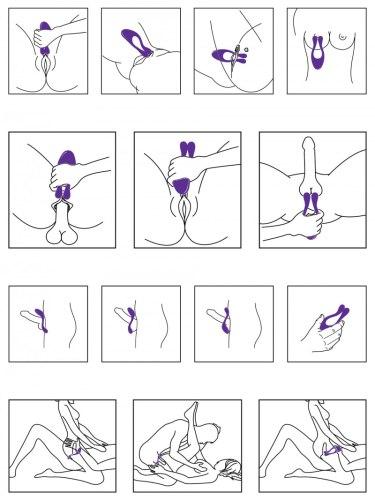 Nabíjecí párový vibrátor/stimulátor Icon
