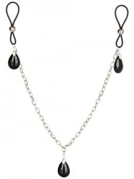 Šperk na bradavky s řetízkem ONYX – Krásné ozdoby na bradavky