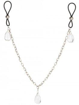 Šperk na bradavky s řetízkem CRYSTAL – Krásné ozdoby na bradavky