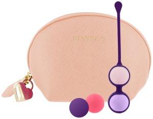 Vaginální činka s vyměnitelnými kuličkami Pussy Playballs (s taštičkou) – Vaginální činky