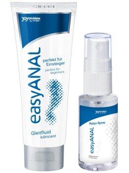 Anální lubrikační gel + relaxační sprej easyANAL – Lubrikační gely na anální sex