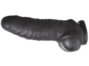 Sada dilda a návleku na penis Perfect Fit Real Boy Dark – Sady erotických pomůcek