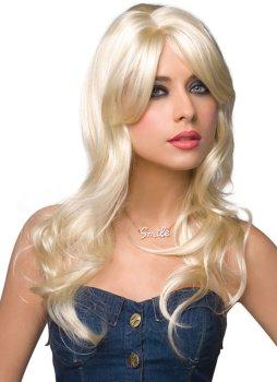 Paruka Jessie - dlouhá, platinová blond – Paruky