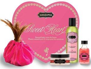 Luxusní sada přípravků pro péči o tělo Sweet Heart – Erotické masážní oleje, gely a emulze