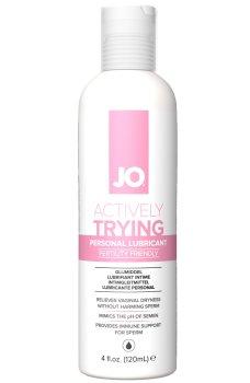 Lubrikační gel System JO Actively Trying (na podporu otěhotnění) – Lubrikační gely na vodní bázi