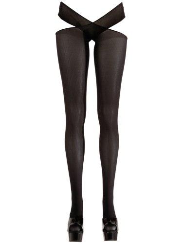 Neprůsvitné punčochové kalhoty s otevřeným rozkrokem