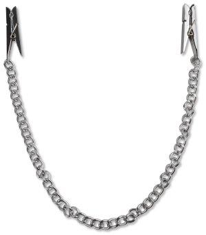 Svorky na bradavky s řetízkem (ve tvaru kolíčků) – Skřipce a svorky na bradavky a stydké pysky