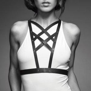 Řemínkový postroj MAZE Cross Cleavage Harness – BDSM postroje a řemínkové prádlo
